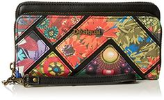 Desigual Two Levels Indiana Wallet Black One Size *** Details can be found by clicking on the image.