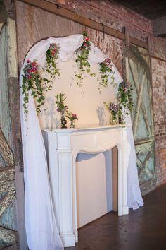 Industrial Style Wedding Wedding Arrangements, Wedding Centerpieces, Industrial Wedding, Industrial Style, Gazebo Decorations, Wedding Ceremony Backdrop, Steampunk Wedding, Brunch Wedding, Rustic Chic