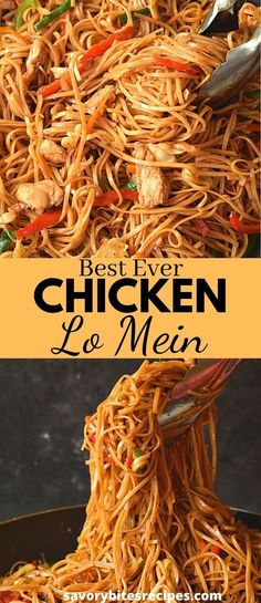 Spicy Chicken Lo Mein Recipe, Chicken Chow Mein, Recipe Chicken, Chicken Recipes, Healthy Lo Mein Recipe, Lasagna Recipes, Chicken Meals, Stir Fry Recipes, Noodle Recipes