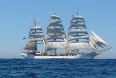 "Skoleskibet Danmark, the School ship ""Denmark""."