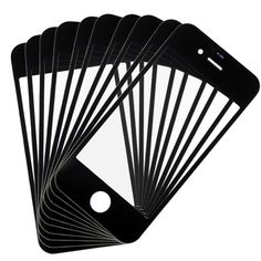 [$4.25] 10 PCS iPartsBuy  for iPhone 4 & 4S Front Screen Outer Glass Lens