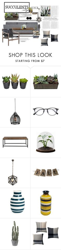 """Danish Decor - Succulents + cacti"" by crazyaboutthings ❤ liked on Polyvore featuring interior, interiors, interior design, home, home decor, interior decorating, The French Bee, Improvements, Dita and Vanity Fair"