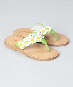 New L'Amour Girls M488 Patent Daisy Flip Flop Thong Sandals | $24.00