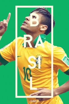 FIFA World Cup 2014 by Ricardo Mondragon, via Behance | Neymar da Silva Santos Júnior
