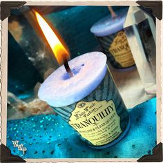 TRANQUILITY Elixir Votive CANDLE. Scent of Sandalwood and Roses Charged with Howlite and Clear Quartz Crystals. Peace, Serenity, Meditation   www.whitewitchparlour.com