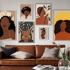Black Girl Art, Art Girl, Black Art Painting, Painting Abstract, Canvas Wall Art, Wall Art Prints, Art Tribal, Nordic Art, Afro Art