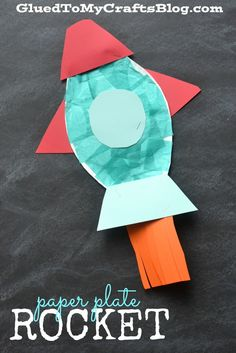 Paper Plate Rocket - Kid Craft