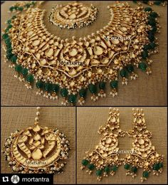 Our bridal choker is doing hit rounds and we are so happy that we are going to get to see so happy and pretty brides in the coming wedding season. Dm or get in touch on whatsapp on to get your entire jewellery trousseau designed from us :)) Royal Jewelry, India Jewelry, Jewelry Sets, Gold Jewelry, Gold Necklaces, Glass Jewelry, Bridal Necklace Set, Indian Accessories, Bridal Sets