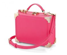 Mini case - pink bag | @aspinaloflondon is trend. One of the most recognized firm Aspinal of London, a mini briefcase models whose function is to use it as a handbag perfectly. The case is crafted with the best Italian calf leather, accentuating the corners with brass ornaments. #woman #mens #home #fashion #style