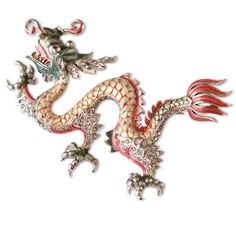 Boucher Jewelry | Rare Enameled Marcel Boucher Chinese Dragon Pin : On Antique Row ...