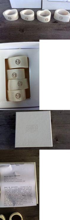 Napkin Rings and Holders 20658: Maison Martin Margiela Paris Handsculpted Bone Napkin Rings – Set Of 4 - Nib -> BUY IT NOW ONLY: $135 on eBay!