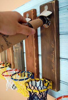 De pared montado abrebotellas abrelatas de botella de cerveza