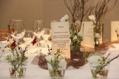 Tischdekoration Familienfest 70 geburtstag Tischdeko 2