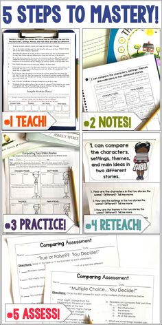 Teach reading comprehension skills to mastery in 5 simple steps! Learning these strategies to mastery will be so beneficial for your classroom, and​ staying organized with all the notes and assessments provided has never been easier! Reading Lessons, Reading Resources, Reading Skills, Teaching Reading, Guided Reading, Reading Worksheets, Close Reading, Student Teaching, Reading Activities
