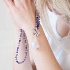 Limitless Mala Beads and Amplifiers Collection - Collection by Tiny Devotions - Mala Bead Necklaces, Braclets, Rings, + Yoga Jewelry. Handmade with intention. Pink Agate, Turquoise Gemstone, Silver Bracelets, Beaded Bracelets, Necklaces, Yoga Jewelry, Amethyst, Beaded Necklace, Drop Earrings