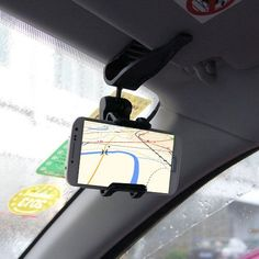 A Universal Sun Visor Car Mount Holder. 1 x Car Sun Visor Mount Holder(Accessory only! Cellphone not included). Tilts and rotates 360 degrees. Cell Phone Car Mount, Cell Phone Holder, Phone Holder For Car, Iphone Holder, Gadgets And Gizmos, Tech Gadgets, Vw T, New Mobile Phones, Car Mount Holder