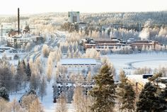 University of Eastern Finland in Kuopio, Finland. Winter.