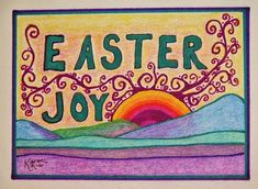 Easter Art Print featuring the drawing Easter Joy by Karen Nice-Webb Face Health, Joy Art, Thing 1, Easter Art, Marker Pen, All Print, Galleries, Fine Art America, Nature Photography