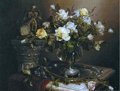 View album on Yandex. Rose Vase, Still Life Art, Art Gallery, Clip Art, Illustration, Painting, Eggs, Still Life, Flowers