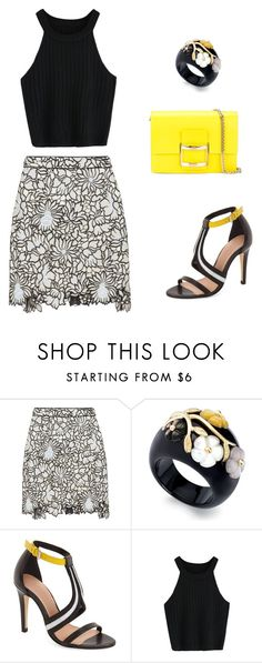 """""""Poppy"""" by always-right ❤ liked on Polyvore featuring self-portrait, L.A.M.B. and Roger Vivier"""