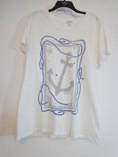 c989c17c5 nwot xxl Nautical Anchor and Rope Print T Shirt Old Navy Soft Cotton Scoop  Neck Tee