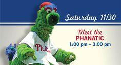 Meet the Phanatic, 11/30, 1 p.m. – 3 p.m. happythanksgivingr friday