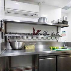 Restaurant Kitchen Design, Bakery Kitchen, Home Decor Kitchen, Kitchen Ideas, Restaurant Restaurant, Chef Kitchen, Eclectic Kitchen, Kitchen Modern, Kitchen Inspiration
