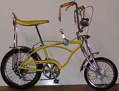 Had one this is a real cool bike. Vintage Schwinn Bikes, Vintage Bicycles, Bmx, Banana Seat Bike, Cruiser Bicycle, Bicycle Shop, Lowrider Bicycle, Drag Bike, Bicycle Pedals