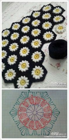 #crochet, hexagonal