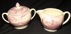 Johnson Brothers Historic America Sugar & Creamer Set Valley of Mohawk & Hudson in Pottery & Glass, Pottery & China, China & Dinnerware, Johnson Brothers | eBay