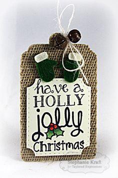 Holly Jolly Christmas Tag by Stephanie Kraft