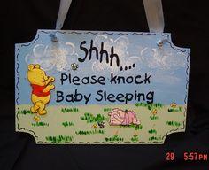 Sign Winnie the Pooh Nursery Sign!-Nursery sign, Nursery Plaque, Winnie the pooh, Piglet, Bumble Bees