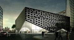 Competition Entry for House of Arts and Culture Beirut by Danish JAJA Architects