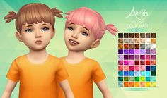 Ivo-Sims Lola Hair - Recolor• 70 Colors • Standalone & Custom Thumbnail • Color actions by Pooklet and me • Mesh by @ivo-sims not included, get it *HERE* (Required!) Download Links under the...