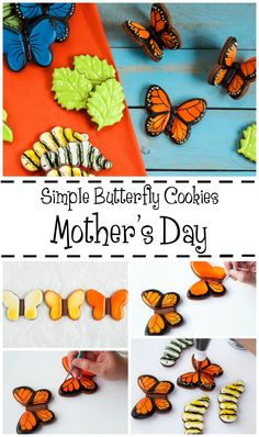 Flying Butterfly Cookies- Simple Sugar Cookies Decorated with Royal Icing via No Bake Sugar Cookies, Mother's Day Cookies, Cut Out Cookies, Cupcake Cookies, Butterfly Cookies, Flower Cookies, Simple Butterfly, Monarch Butterfly, Pumpkin Dessert