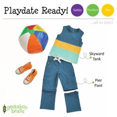 Beach Ball Bean!   Peekaboo Beans - playwear for kids on the grow!   Find your local Play Stylist or shop On-Vine at www.peekaboobeans.com   #PBplayfulpairings