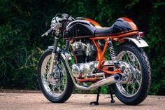CB350 heaven - orange frame and black fairing