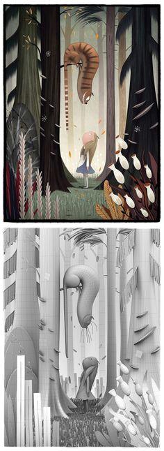 Alice in Wonderland by Yuo Tengara 800px X 2191px