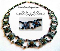 Pattern bijoux: Necklace with tila beads