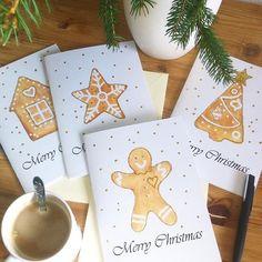 It's Beginning to Look a Lot Like Christmas... #gingerbread #gingerbreadhouse #gingerbreadman #christmas #card #handmade #handmadeisbetter #handmadecards #etsy #etsyshop #etsyseller #christmascards #greetingcards #holidaycollection #holiday #papercraft #giftcard #postcard #design #sendinglove #papercards #christmasdecor #merrychristmas #mézeskalács