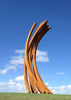 Bernar Venet sculpture at Gibbs Farm New Zealand.