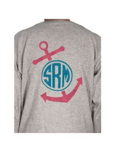 1465bd7d30c0  17.25 Anchor Monogram Youth Long Sleeve Relaxed T-Shirt Anchor Monogram