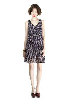 Puzzle Print Devore Velvet Dress - Marc by Marc Jacobs - Shop marcjacobs.com - Marc Jacobs