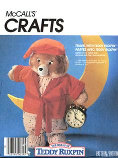 McCalls Crafts 2738 Sleepwear for Teddy Ruxpin Talking Teddy Bear Doll Uncut Sewing Pattern Pajamas for Teddy Ruxpin bear. Pattern is uncut and factory folded. Talking Teddy Bear, Clothing Patterns, Sewing Patterns, Christmas Parade Floats, Teddy Ruxpin, Book Costumes, Made Clothing, Bear Doll, Cub Scouts