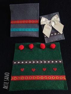 Bolsas de fieltro para Regalos Hechas a mano. De ARTE SANO KIDS. #Navidad #regalos #Handmade #Present #Christmas #ideas #DIY