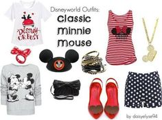 """Disneyworld Outfits: Classic Minnie Mouse"" by daisyelyse on Polyvore"