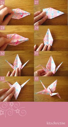 Origami Kraniche Tutorial - Teil 6