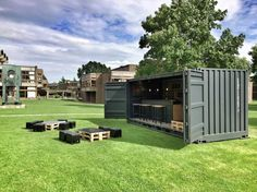 Shipping Container Homes: Transportable shipping container bar Container Bar, Shipping Container Restaurant, Container Design, Shipping Container Homes, Container Gardening, Cargo Container, Shipping Containers, Container Architecture, Container Buildings
