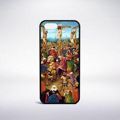 "Painted circa 1425 by Jan Van Eyck, ""The Crucifixion (The Last Judgment)"" is a masterpiece that can now be available on your phone. Each image has been retouched and color corrected so that you can ex"