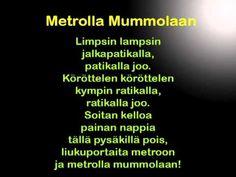 Metrolla mummolaan -lastenlaulu Singing, School, Music, Youtube, Musica, Musik, Muziek, Music Activities, Youtubers